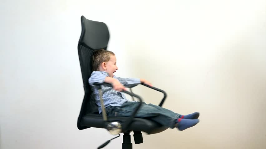 Funny Kid Spinning In An Stock Footage