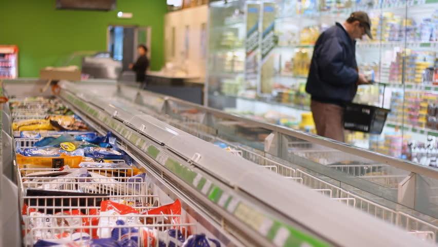 Vojvodina, Serbia March 8 2016:Market store shopping in The big supermarket | Shutterstock HD Video #15405304