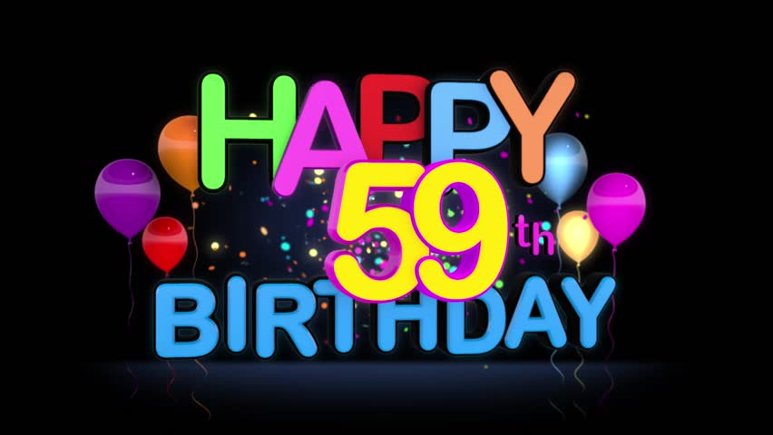 Get Happy 59Th Birthday  PNG