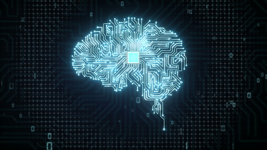 Brain CPU chip, grow artificial intelligence Royalty-Free Stock Footage #15450454