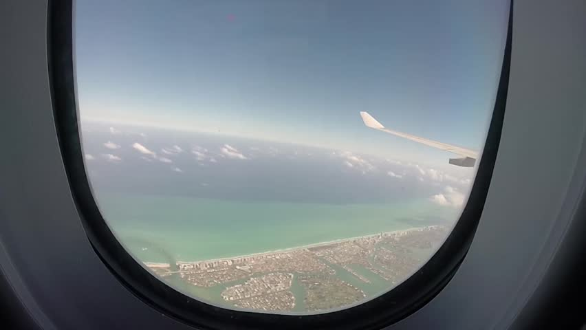 Flying over Miami #15477523