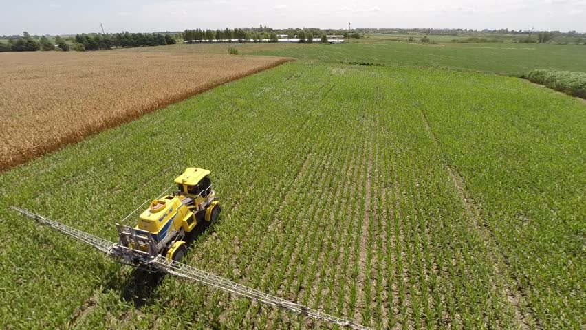 Agricultural Sprayer in Argentina. Drone Aerial Image | Shutterstock HD Video #15500308