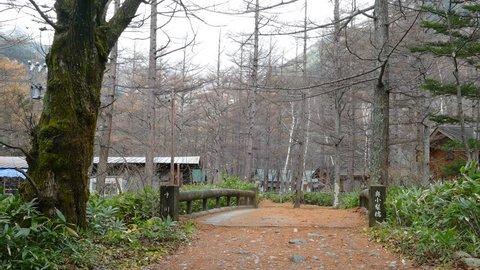 The fall season of kamikochi national park, Japan