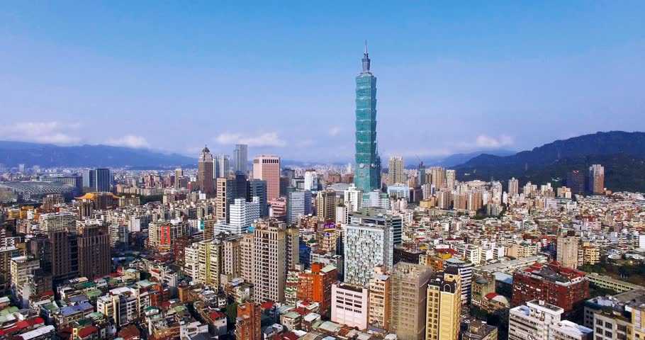 Aerial view of City of Taipei, Taiwan