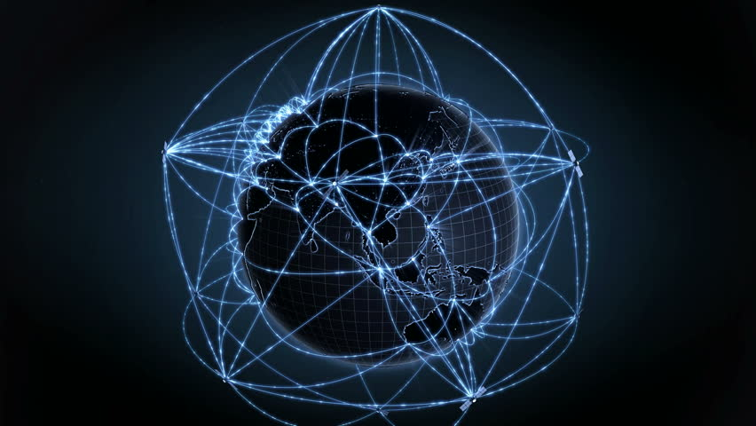 Global communication, data flow. Internet concept, satellites connection. Loops seamlessly. 4K | Shutterstock HD Video #15667516