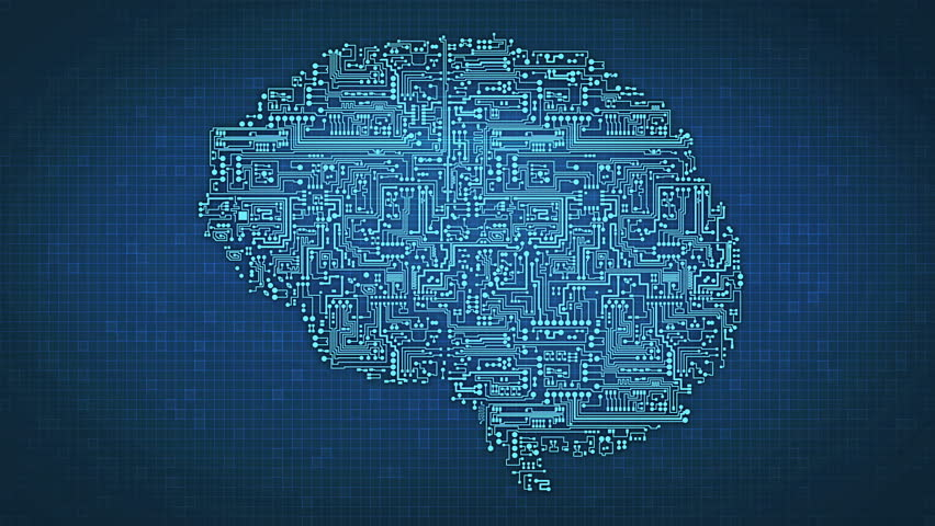 Artificial Intelligence - brain circuitry and electronics illustrating concepts of networking and technology Royalty-Free Stock Footage #15698971