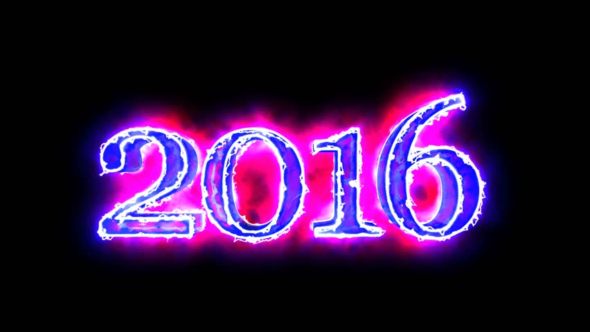 2016 year digits Blue and Red color 3D animated in black background for overlay 4K video | Shutterstock HD Video #15737185