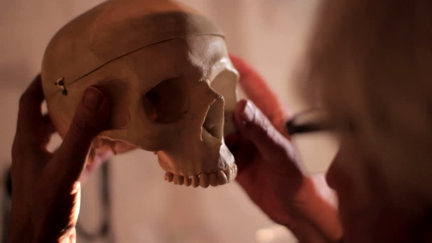 Professor human skull watching doctor | Shutterstock HD Video #15756736