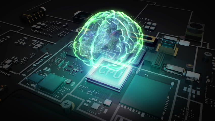 Hologram Brain on CPU chip, grow artificial intelligence technology.