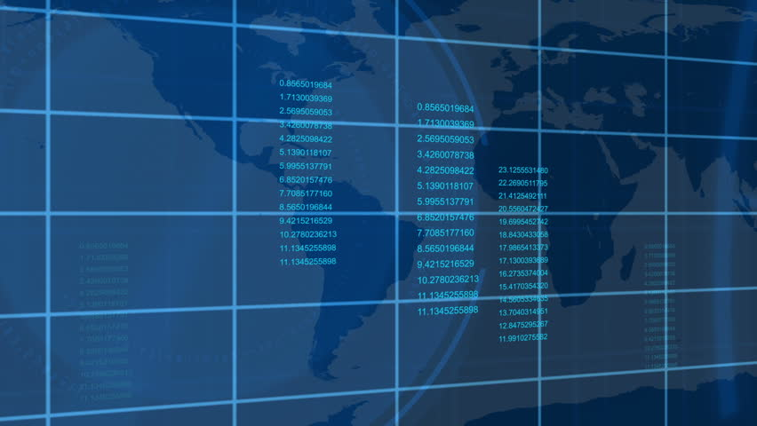 Animated economical data with a map in the background   Shutterstock HD Video #1583989