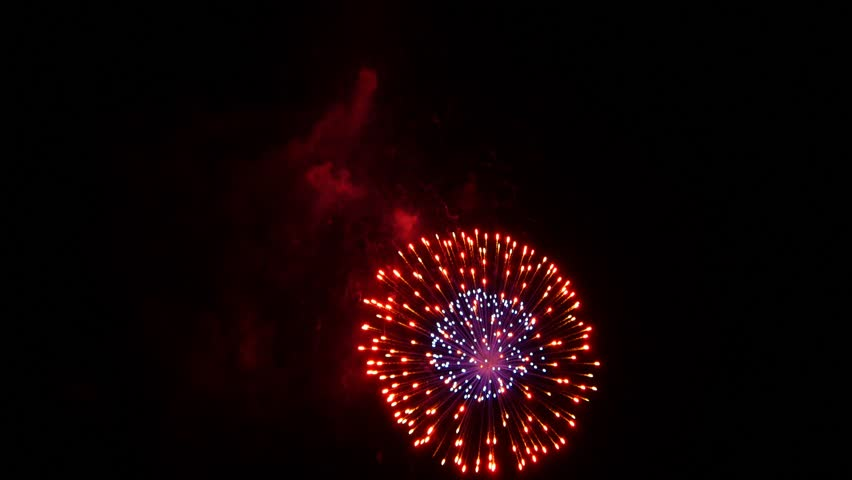Colorful Explosion Particles Bokeh glitter 4th of July New Year Fireworks real | Shutterstock HD Video #15888550