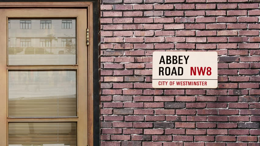 Abbey Road street sign. The world's most famous street of Abbey Road in London.
