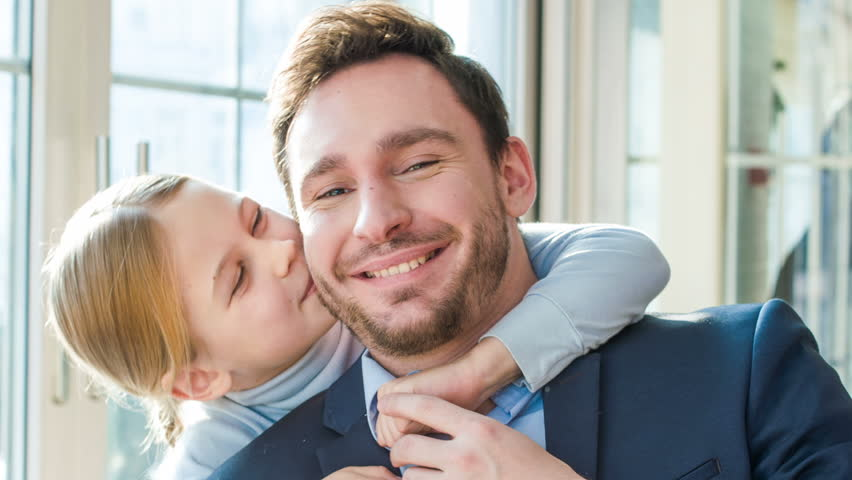 Little father and daughter embracing  | Shutterstock HD Video #15931846