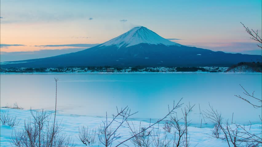 4K Timelapse Sunrise of mt. Fuji in Winter, Japan | Shutterstock HD Video #15962221