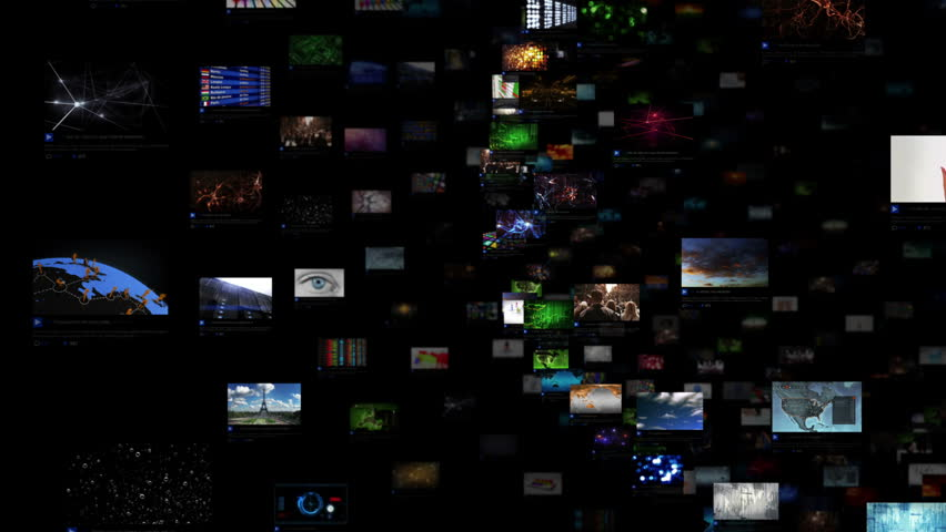 Video Wall Background. Sphere. Journey through video screens showing multiple themed videos. Loopable. Dolly out. All videos in this animation are available in my portfolio.  | Shutterstock HD Video #15981445