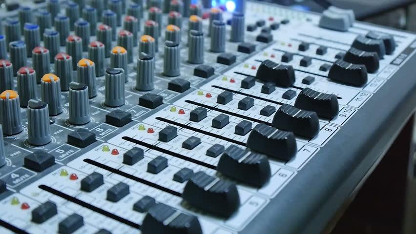 DJ Sound Console Mixer | Shutterstock HD Video #15983215