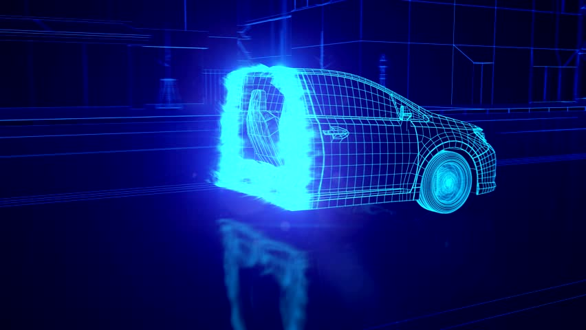 City car Wireframe View - conceptual | Shutterstock HD Video #15983524