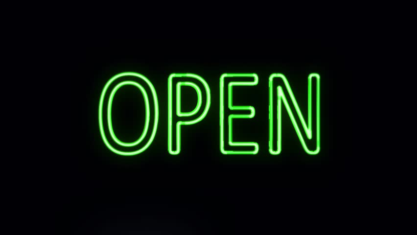 Green Neon Sign