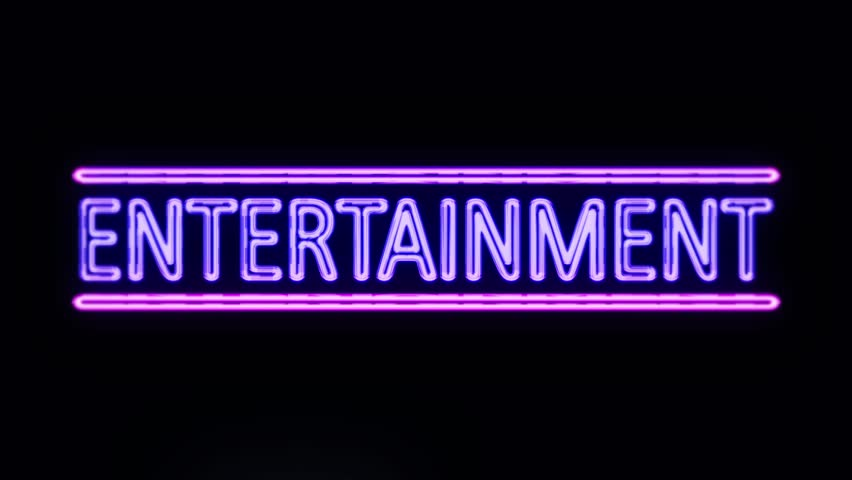 Entertainment Sign In Neon Style Stock Footage Video 100 Royalty Free 16003750 Shutterstock