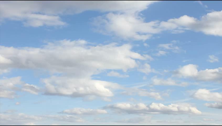 White, real, nice, soft clouds & blue sky, UHD, 4K
