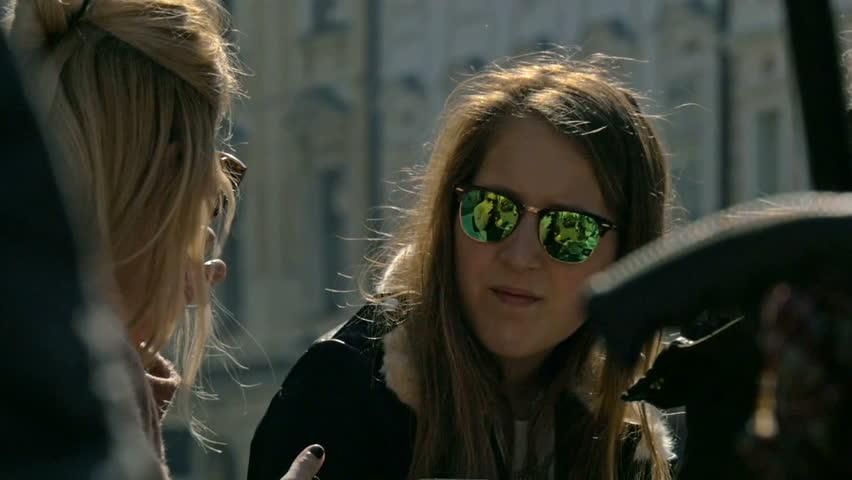 Girls smokig while drinking coffe   Shutterstock HD Video #16057384