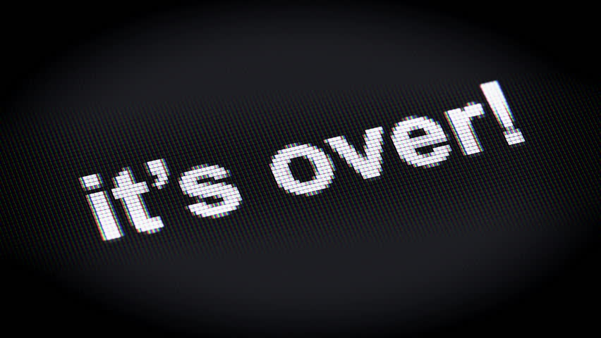 "its Over!"" On the Screen : vídeo stock (100% livre de direitos) 16069090 |  Shutterstock"