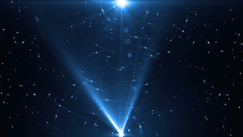 Animation blue background with rays in space. Abstract blue animation background with lens flare. VJ Seamless loop. | Shutterstock HD Video #16099918