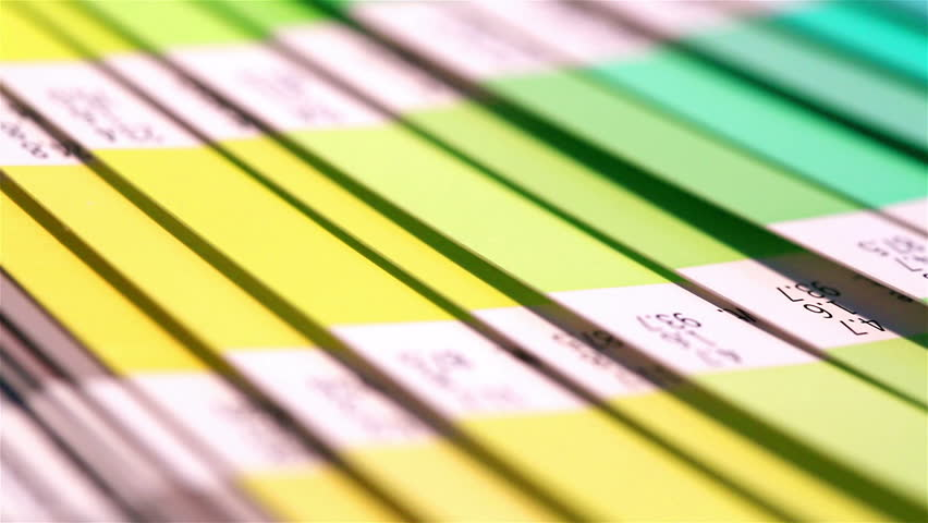Colour swatches book. Rainbow sample colors catalogue. Royalty-Free Stock Footage #16108801