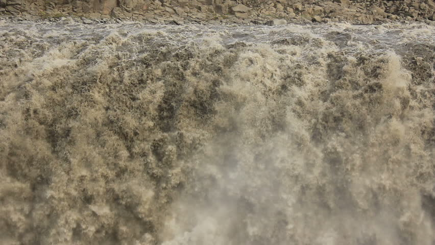 Dettifoss on Iceland: Europe's largest waterfall - Extreme close-up
