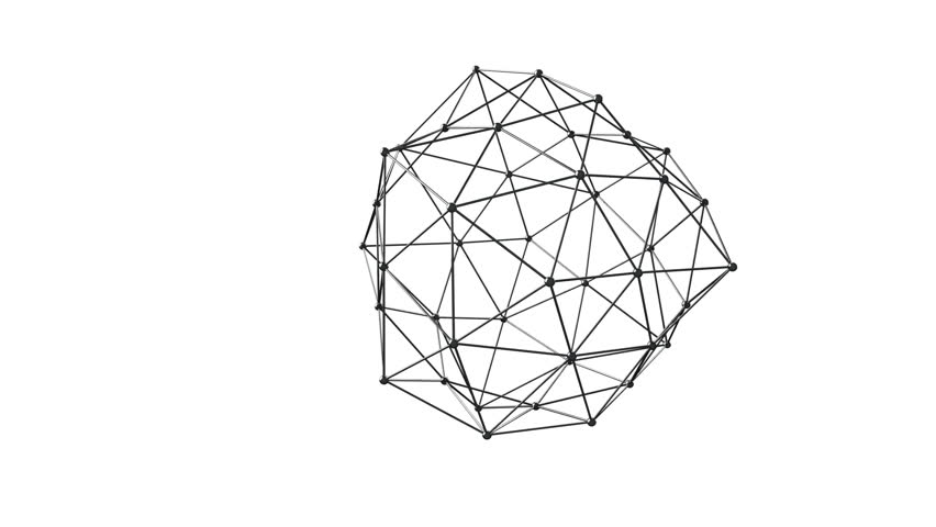 3D illustration of geometric connection structure | Shutterstock HD Video #16143586