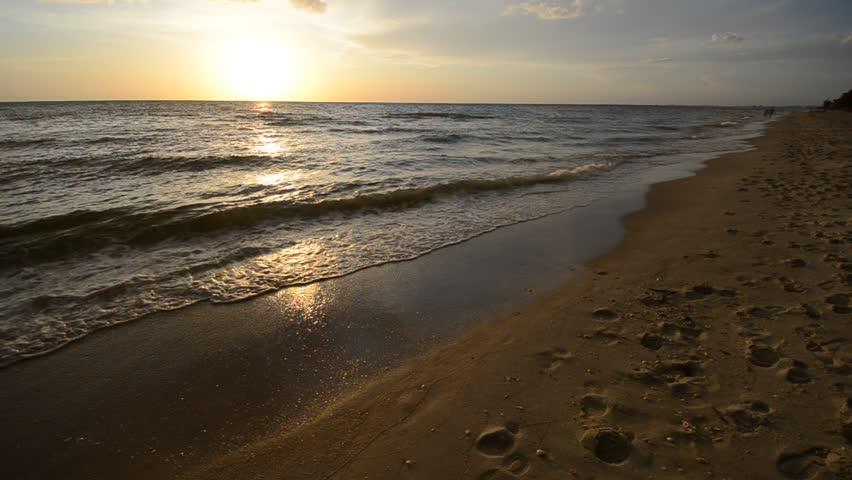 Beach before the sunset   Shutterstock HD Video #1618144