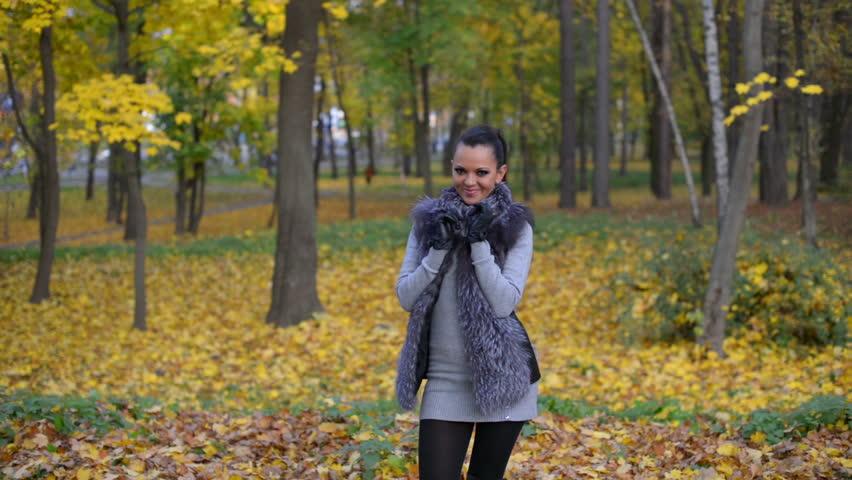 Girl Dancing in Autumn Park | Shutterstock HD Video #16198576