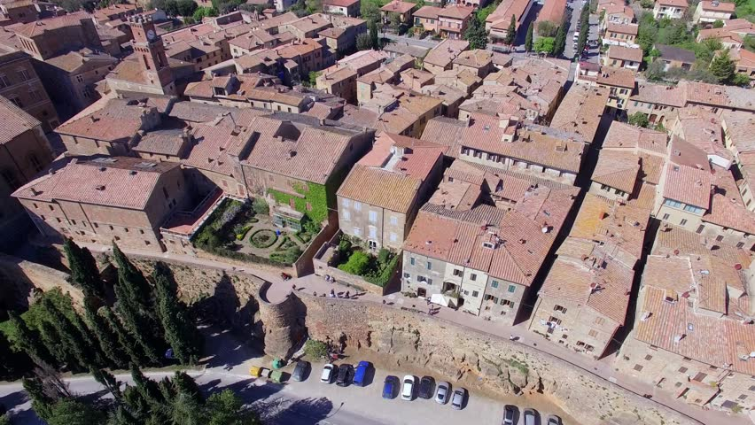Pienza Aerial View. | Shutterstock HD Video #16215661