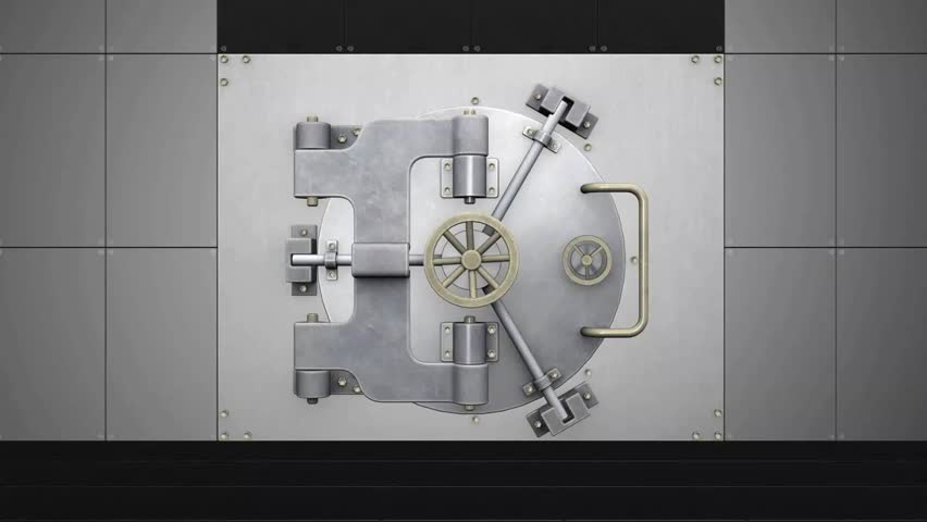 Money Safe Animation A safe opens up and explodes with cash.