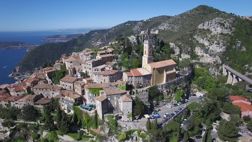 The village of Eze in Provence, Cote d'azur, France, 4K, UHD movie (3840X2160)   Shutterstock HD Video #16233841