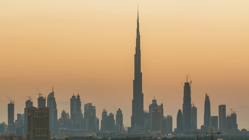 Skyline of Downtown Dubai day to night timelapse.  | Shutterstock HD Video #16240525