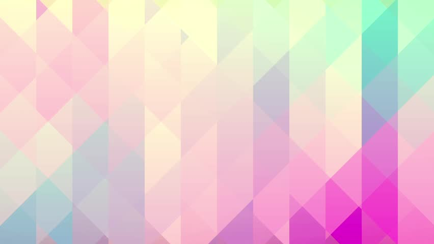 Abstract background of triangles in a geometric pixelated mosaic tile pattern. Pink, orange, blue, violet, purple and creamy yellow color scheme.   Shutterstock HD Video #16242934