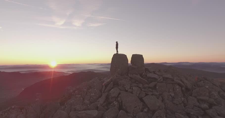 AERIAL: Dawn on Tryfan #16267843