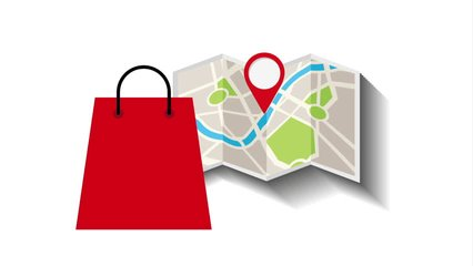 store location on map , video animation