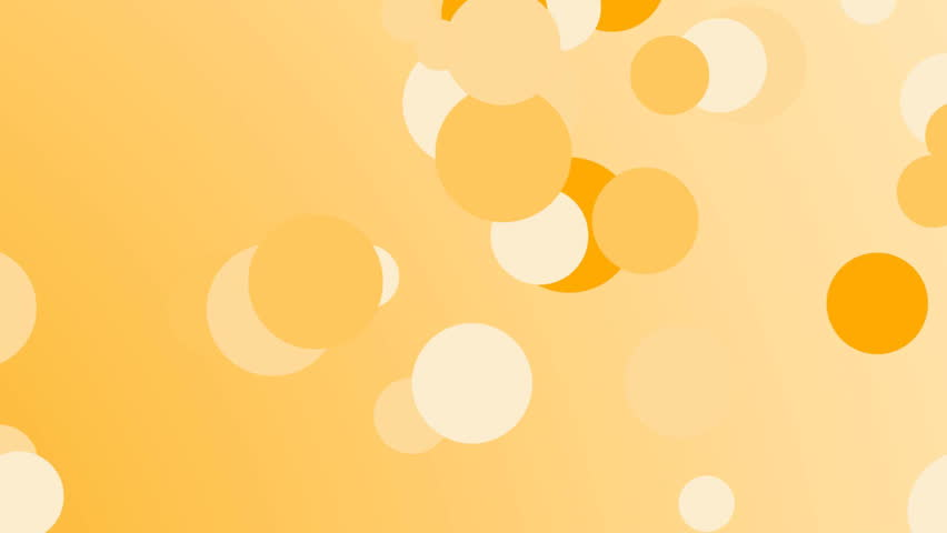 Orange bubbles background, infinite loop