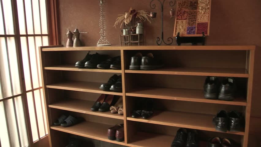 Traditional Asian Shoe Cabinet Stock Footage Video 100