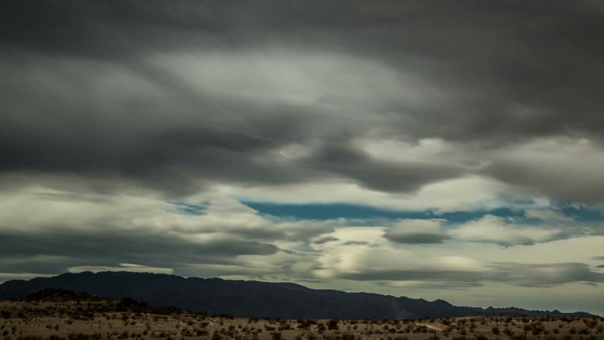 Dramatic Clouds over California Desert: Timelapse This time-lapse sequence was taken in the desert near Joshua Tree National Park, California.