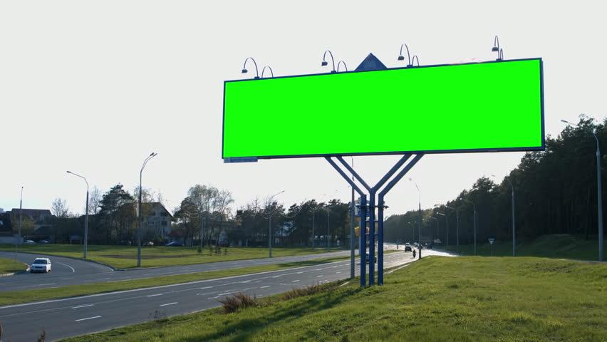 Billboard poster advertising.Urban landscape. 4K 30fps ProRes (HQ) | Shutterstock HD Video #16350397