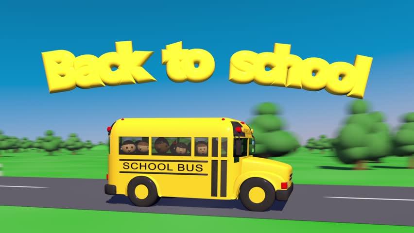 School bus goes back to school