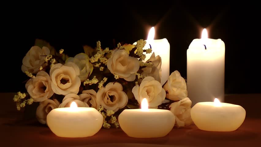 Candles and Flowers Stock Footage Video (100% Royalty-free) 16429051 | Shutterstock