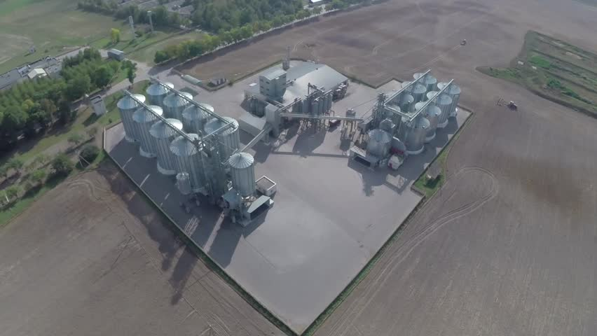Aerial view of big grain elevators | Shutterstock HD Video #16443061