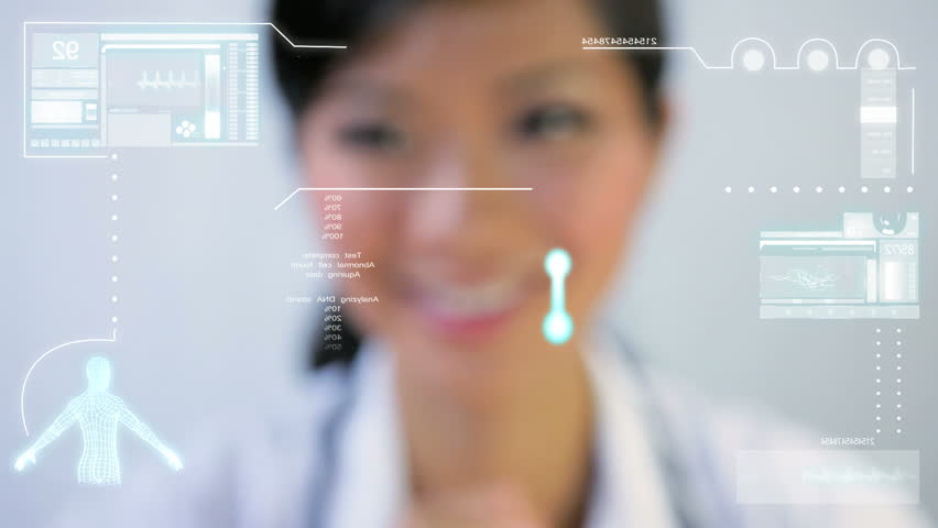 DNA Medical Touchscreen Technology Royalty-Free Stock Footage #1644604