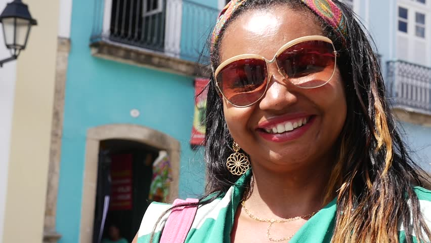 Brazilian woman from Bahia state at Pelourinho, Brazil