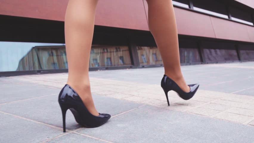 Women In Black High Heels
