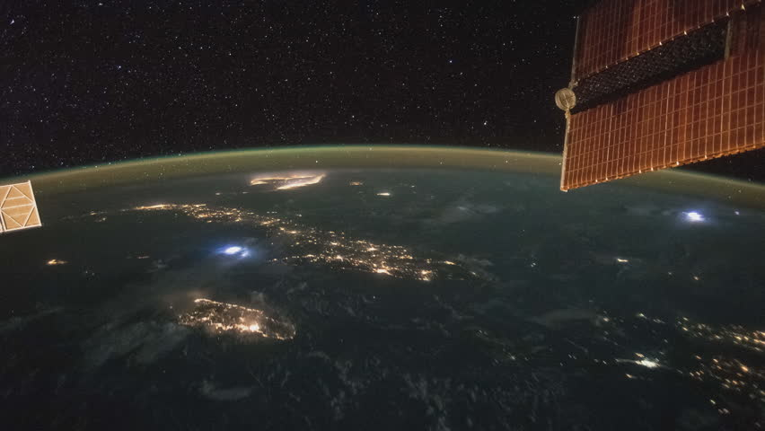October 2015: ISS view of Earth from Cuba to Brazil, Time Lapse 4K. Created from Public Domain images, courtesy of NASA Johnson Space Center : http://eol.jsc.nasa.gov | Shutterstock HD Video #16507027